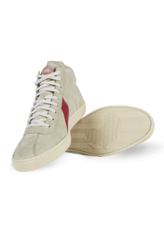 Lishan Gray-Red Suede Sneaker