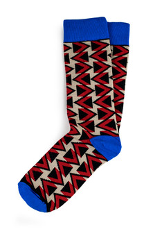 Xhosa-Inspired Triangle Stripe Socks