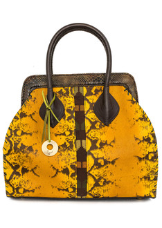 Segilola XXL croc-effect leather tote