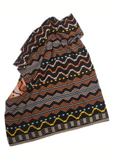 NKONDE Brown Black Pattern Shawl