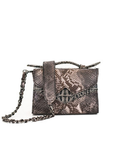 Snake print TKO mini shoulder bag