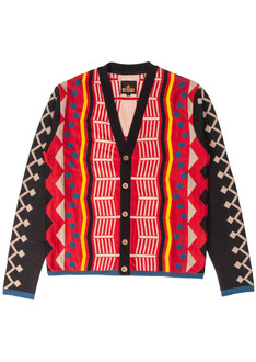 Red/Black pattern cardigan
