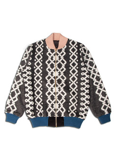 Pattern bomber jacket