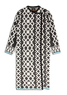 Pattern long coat