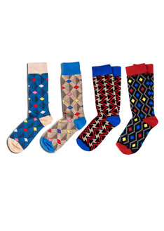 4 Pack Pattern Socks
