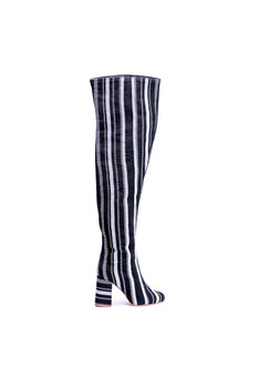 Monochrome knee high boot