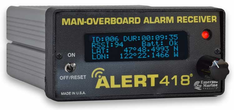 ALERT418® Man-Overboard Receiver