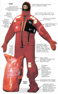 Imperial USCG / SOLAS Immersion Suit with Buddy Line and Lifting Harness - adult universal