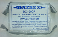 Datrex Emergency Rations - Aviation Ration - 1,000 kcal (Case of 76 Single Package) - face