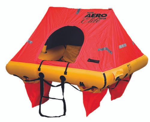 Revere Aero Elite Liferaft, 4-Person, deployed with Canopy