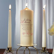 Autumn Leaf Memorial Pillar Candle