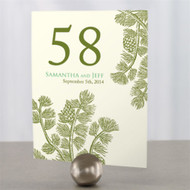 Evergreen Table Number Cards (Set of 12)