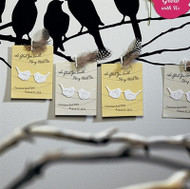 Hang With Us Personalized Favor Card with Seed Paper Love Birds (Set of 12)