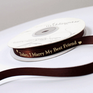 """Today I Marry My Best Friend"" Ribbon"