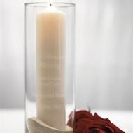 """In Loving Memory"" Memorial Glass Cylinder"