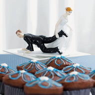 "Bride ""Having the Upper Hand"" Cake Topper"