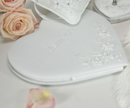Floral Fantasy Heart-Shaped Traditional Guest Book