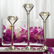 Diamond Shaped Tealight Holders (Set of 3)