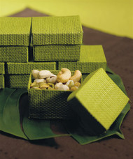 Organic Green 2-Piece Woven Favor Box (Set of 6)