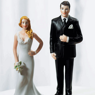"""Curvy and Burly"" Cake Topper Set"