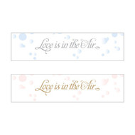 """Love is in the Air"" Bubble Stickers (Set of 24)"