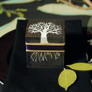 "Miniature ""Tree Design"" Wooden Box with Lid (Set of 6)"