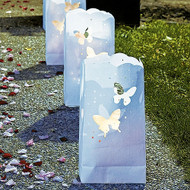 Butterfly Pattern White Luminary Bags (Set of 12)