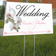 Classic Orchid Directional Sign