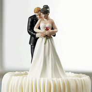 Yes to the Rose Romantic Couple Cake Topper