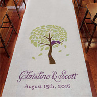 Love Bird Tree Personalized Aisle Runner