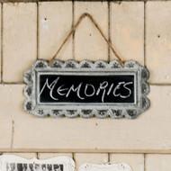 Large Scalloped Chalkboard Tin Frame Sign