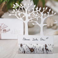 Faux Birch Log Card Holders (Set of 6)