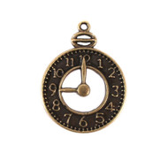 Antique Clock Charm (Set of 12)