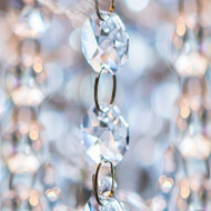 Clear Acrylic Beaded Garland