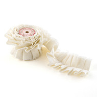 Ruffled Fabric Ribbon Trim in Ivory