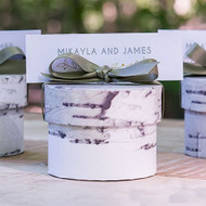 Birch Circular Favor Box (Set of 6)
