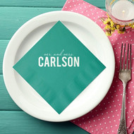 mr. and mrs. {Last Name} Personalized Wedding Napkins | Wedding Reception Napkins