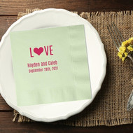 L{Heart}VE Personalized Wedding Napkins | Wedding Reception Napkins