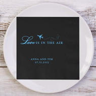 Love is in the Air ... Personalized Wedding Napkins | Wedding Reception Napkins