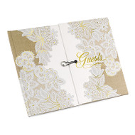 Rustic Charm Gatefold Guest Book