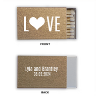 L{Heart}VE Personalized Classic Matchbox (Set of 50)