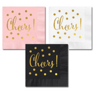 Metallic Gold Cheers Party Napkins {Package of 25}
