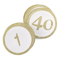 Sparkly Gold Glitter Table Number Cards {1-40}