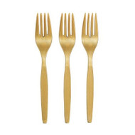 Metallic Gold Plastic Forks {Package of 50}