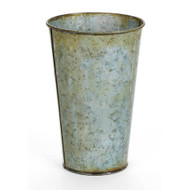 Antique Grey French Tin Pail