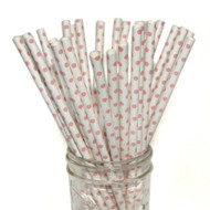 Light Pink Mini Polka Dot Eco-Friendly Paper Straws {Package of 25}