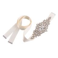 Ivory Rhinestone Wedding Dress Sash | Bridal Belt