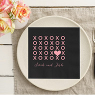 XOXO {with Heart} Personalized Napkins | Wedding Reception Napkins