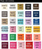Napkin Color Swatch Chart.