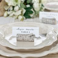 Faux Birch Place Card Holders {Set of 4}